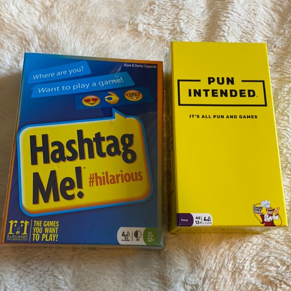 2 New games Pun Intended Hashtag Me!